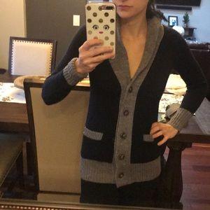 I Crew merino wool button up sweater wool xxs
